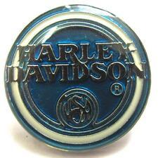 11724 HARLEY DAVIDSON PIN BADGE ROUND BLUE CIRCLE ENAMEL MOTORCYCLE MOTOR BIKE