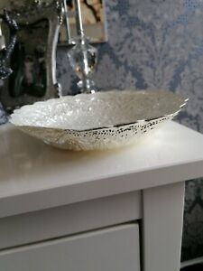 JOHN LEWIS  Decorative With Added Pure Sliver Flakes Bowl New