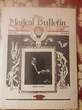 Vintage Thayer The Magic Bulletin 1920'S Frank Fewins Issue