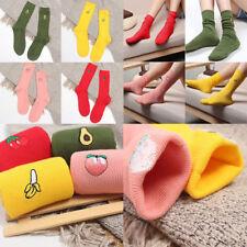 Lovely Soft Women Socks Cute 3D Cartoon Fruit Cotton Warm Ladies Girls Socks