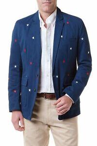 Castaway Clothing Blazer Atlantic with Red & White Stars