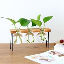 Wooden Shelf Plant Ladder Garden Indoor Planter Pot Basket Window Box 3-Vase