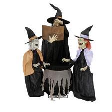NIB ANIMATED 3 WITCHES TRIO CAULDRON Halloween Yard Life-size LIGHT UP