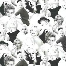 Marilyn Monroe Fabric Fat Quarter Cotton Craft Quilting Platinum