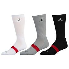 Brand New Nike Air Jordan Dri-FIT 3 Pack Chaussettes Taille UK 5-8 Eur 38-42
