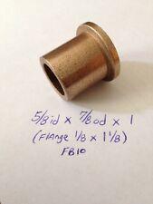 Bronze Flange Bushing Bearing New 5/8 id x 7/8 od  x 1 Brass Engine Motor F10