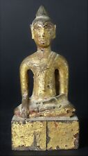 Antique Laotian Wooden Folk Buddha Late 19 Th. early 20 Th. century