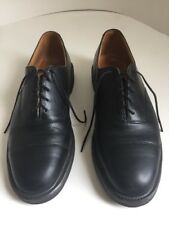 Barrie Ltd Booters Black Leather Oxford Mens Size 10.5 M Handcrafted In England
