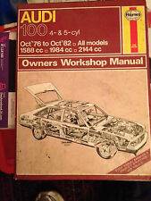 Haynes Audi 100 Oct '76- Oct '82 All models  Owners Workshop Manual 428