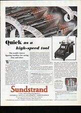 1929 Sundstrand Office Equipment Ad