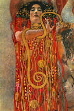 "GUSTAV KLIMT : HYGIEIA ( HYGEIA HYGIEA HYGEA ) 24"" VIENNA FINE ART CANVAS PRINT"
