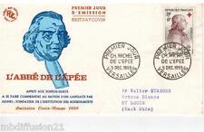 1959//FDC 1°JOUR**L'ABBE DE L'EPEE-VERSAILLES-CROIX-ROUGE**TIMBRE Y/T 1226