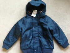 BNWT NEXT Black Lined Hooded Coat Jacket Shower Resistant 4 Years