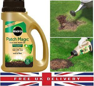 Miracle-Gro Patch Magic Grass Seed Feed Coir Grow Anywhere Dry Sunny Shady 1015g