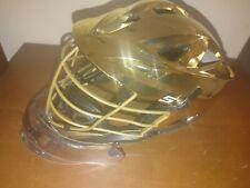 lacrosse helmet cascade s Gold Notre Dame Goalie PLL NLL MLL NCAA