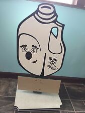 "RARE RECYCLE OHIO ! MILK JUG ADVERTISING STORE DISPLAY SIGN 34"" TALL UNIQUE"
