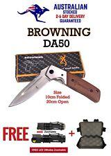 Large Browning DA50 Airforce Pocket Knife + FREE: Q5 LED CREE FLASHLIGHT & CASE