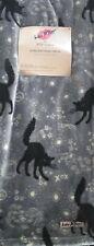 "🐈 Betsy Johnson Black Cat Ultra Soft Throw Blanket 50""x60"""