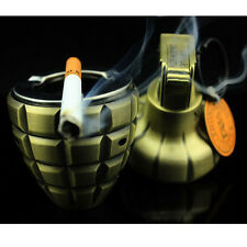DUMMY Smoke Grenade shape M26 Windproof lighter Keychain with ashtray Cigarette