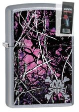 Zippo 29591 Moon Shine Camo Muddy Girl Street Chrome Lighter + FLINT PACK