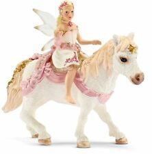 SCHLEICH BAYALA SERIES 70501 - DELICATE LILY ELF, RIDING A PONY - BRAND NEW!!