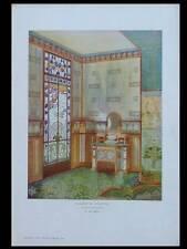 CABINET DE TOILETTE ART NOUVEAU - 1903- PHOTOLITHOGRAPHIE, SIMAS