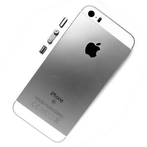100% Genuine Apple iPhone SE rear side housing+camera glass+side button Silver