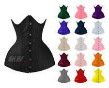 26 Double Steel Boned Waist Training Lacing Twill Cotton Long Underbust Corset