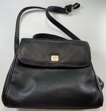 Liz Clairborne black pebble leather satchel and shoulder bag good condition