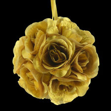 "6"" Gold Rose Flower Pomander Small Wedding Kissing Ball for Weddings and"
