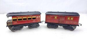 American Flyer Trains Prewar 1205 Railway Express Baggage, 1206 Coach Passenger