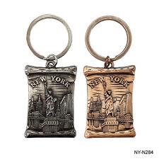 12 PACK New York Souvenir Statue of Liberty Landmarks Key Ring Key Chain #284