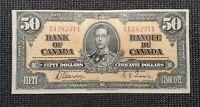 Canada 1937 Gordon Towers BC-26b $50.00 Banknote BH 1282311