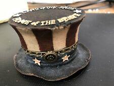 "Boyds Trinket Box-""Uncle Sam""S Topper""-Nib-ab"