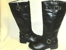 Womens Kenneth Cole Reaction Harness Black Faux Leather Mid Calf Boots 7M LKN