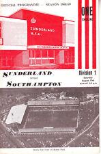SUNDERLAND  V SOUTHAMPTON 17 AUG 1968 + FLR VGC. DISCOUNT POSTAGE!