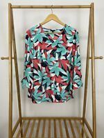 Talbots Women's V-Neck Bold Floral Pullover Top Blouse Shirt Size M