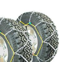 Titan Diamond Alloy Square Tire Chains On Road Snow/Ice 3.7mm 285/70-17