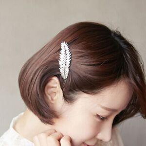 Fashion Women Leaf Feather Hair Clip Hairpin Barrette Bobby Pin Accessoriy-
