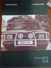 Land Rover Discovery accessories range brochure Apr 1995 ref STC 7581/4.95/SP