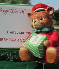 2010 LE Cubby Bear Christmas Cookie Jar from Harry & David Delivery Postman Bear