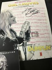 DUMPLIN, DOLLY PARTON  SIGNED SHEET MUSIC for Best Song  Girl In The Movies CD