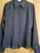 Jag black long sleeve ladies shirt sz 12