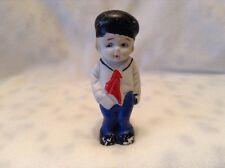 Antique Vintage Japan Bisque Boy Sailor Figurine Paint