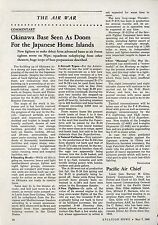 1945 Aviation Article Okinawa Air Base is Doom for Japan Japanese WWII Pacific