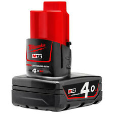 Genuine Milwaukee M12 Red Lithium Cordless 12V Battery Pack 4.0Ah - Au Stock