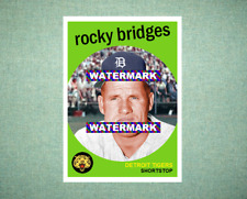 Rocky Bridges Detroit Tigers 1959 Style Custom Art Card