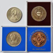 Sammlung Konvolut Lot 4 Medaillen Großbritannien England Elizabeth Charles Diana