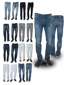 Men's New Stretch Denim Jeans Regular Slim Fit Denim Destructed.