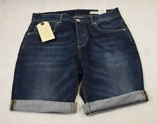 Selected Homme Cash 3954 Denim Shorts in Dark Blue - Size Small (r100)